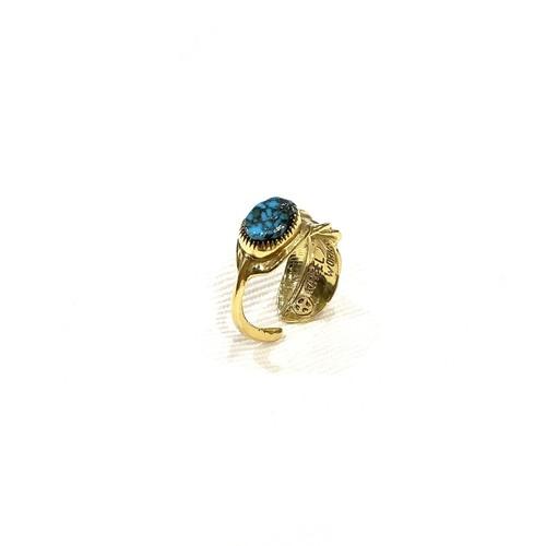 WHEEL WORKS ホイールワークス  Red Mountain Turquoise K18Gold Feather Ring レッドマウンテン ターコイズ イーグル フェザー リング  GOLD 18K K18 インディアンジュエリー