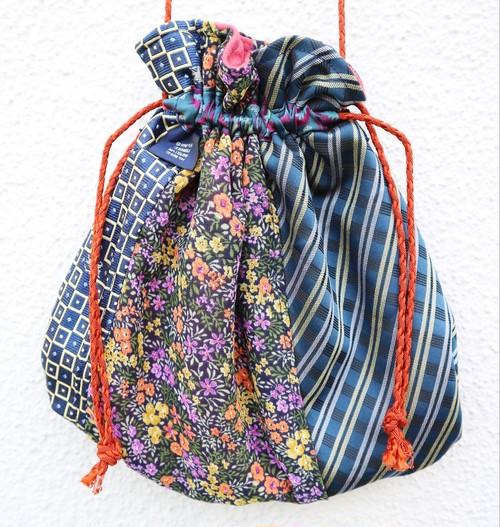 necktie kinchaku pochette (blue)