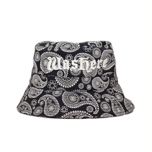 WasHere PAISLEY BUCKET HAT (NAVY)