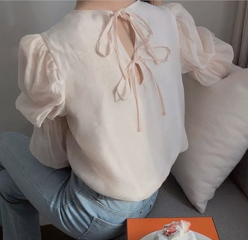 tulle sleeve tops 2color