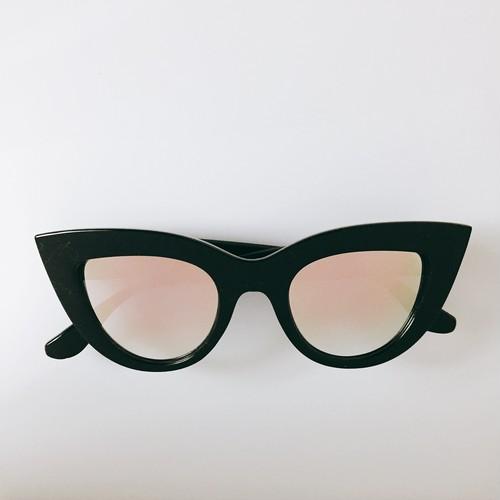Eyewear♡キャットアイ01 ピンクゴールドミラー