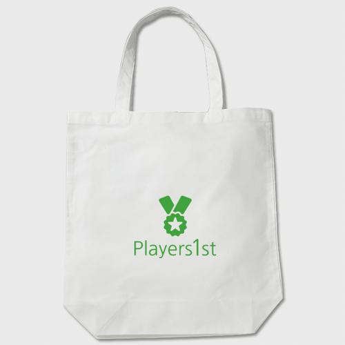 Players1st トートバッグ 白 ポリエステル