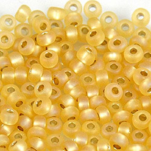 日本製シードビーズ、サイズ8/0、Gold Mat