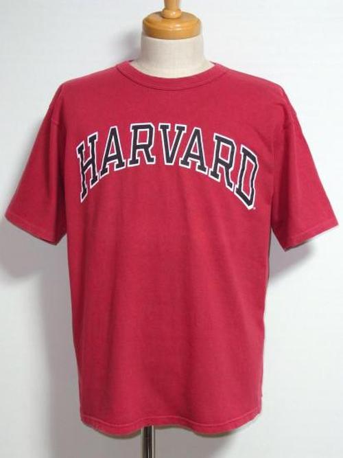 """1990's Champion """"HARVARD""""アーチプリントTシャツ 100%コットン バーガンディー 表記(L) チャンピオン"""