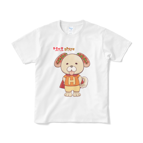 愛犬キャラクター 「ホットドッグ」 Tシャツ