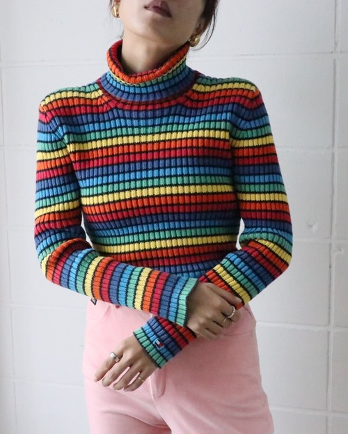 TOMMY HILFIGER rainbow knit