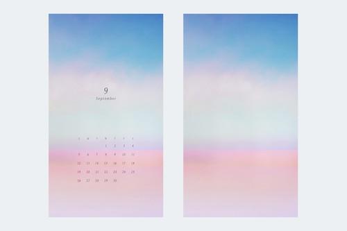 9月の待受けカレンダーと画像