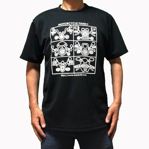 モーターサイクルファミリーTシャツ・ブラック