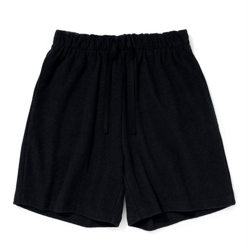"""Just Right """"Double-Faced Pile Shorts"""" Navy"""