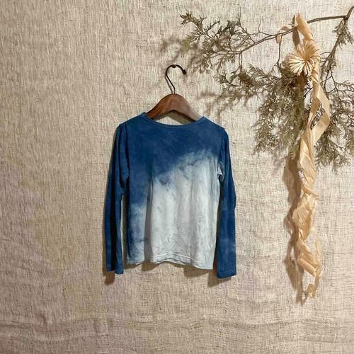 【天然素材・草木染め】キッズTシャツ 藍染 S