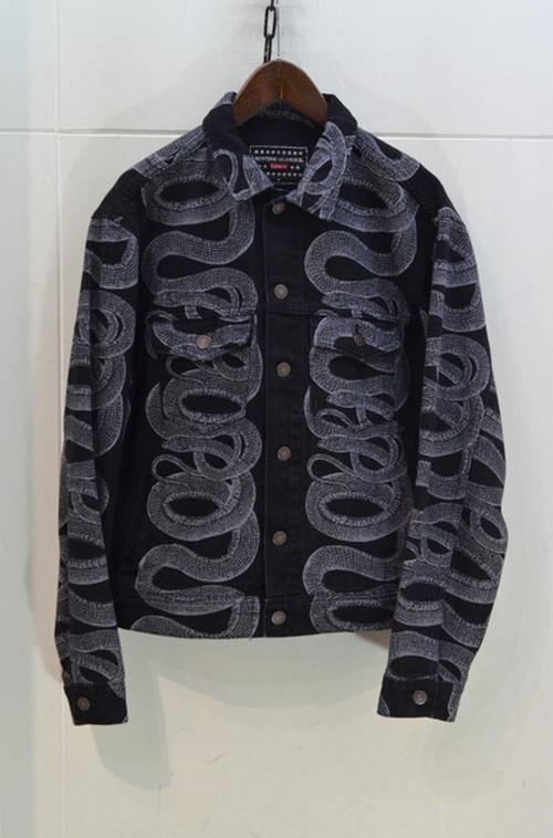 Supreme Hysteric Glamour Snake Denim Trucker Jacket