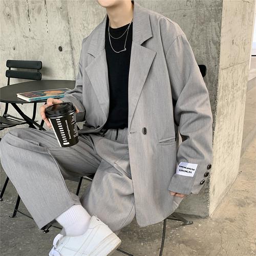 オーバーサイズ スーツ風 セットアップ 韓国風   無地 スーツ