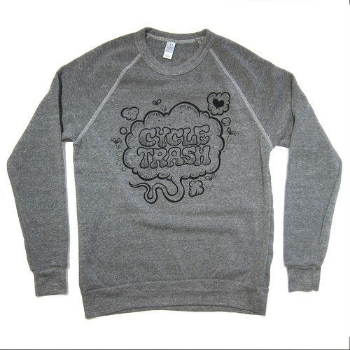 "Cycle Trash Sweat Shirt ""Fart"" eco grey"