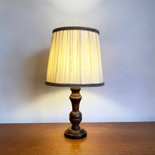 Oakwood Frame Vintage Table Lamp 70's オランダ