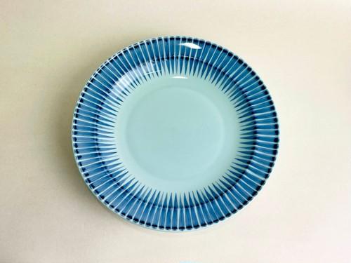 十草 8寸皿(青藍色)