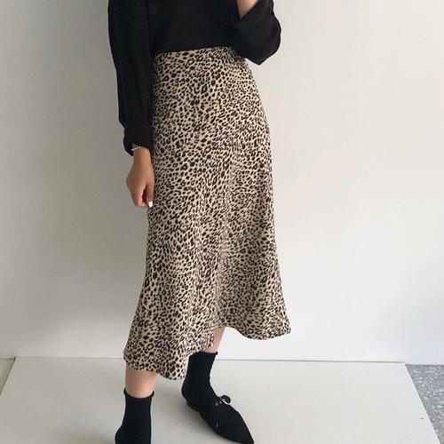 レオパード柄Aラインスカート #RD991