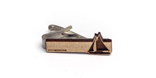 ヴィンテージ ポプラウッド ネクタイピン ヨット Wooden Sail Boat Bar - Poplar