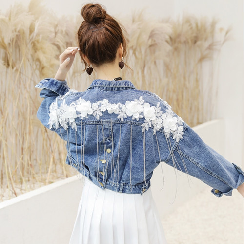 flower denim JK