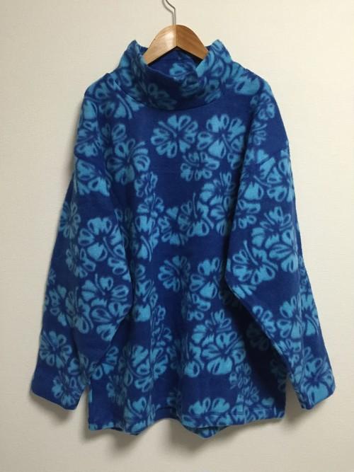 late90's〜early2000's hibiscus fleece top