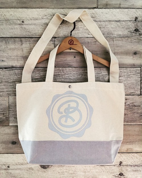for Classics:CIRCLE LOGO / NATURAL / GRAY / BiCOLOR BODY / GRAY PRINT : DBKFC-BAG / 2WAY SHOULDER TOTE