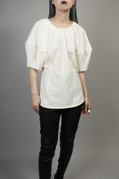 SWITCHING COCOON SLEEVE TOPS  (IVORY) 2107-75-36