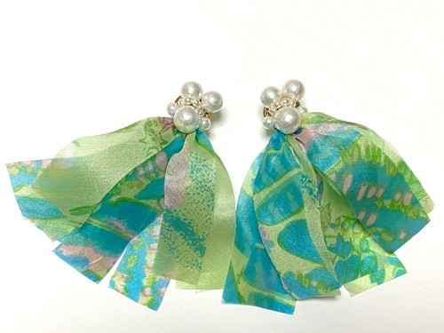 scarf earrings/pierce (2020 C)