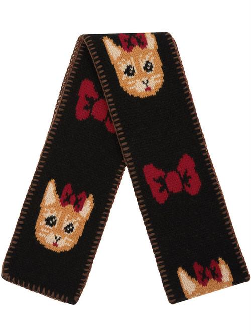 【Nathalie Lete】MUFFLER RIBBON CAT