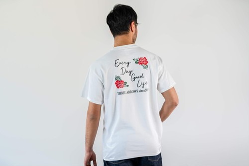 Every Day Good Life ROSE LOGO S/S TEE (white)
