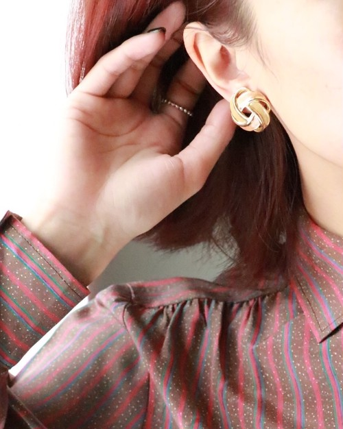 deadstock yellow+brown earrings