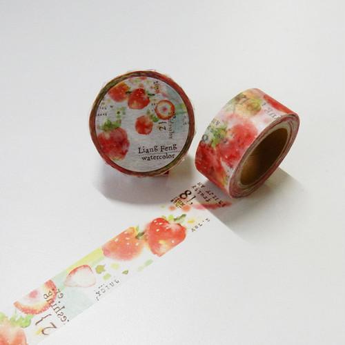 小徑文化LiangFeng watercolor Strawberry Mint MTW-LF-004