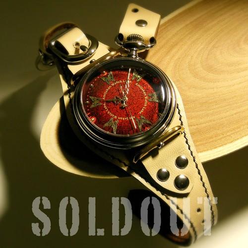 腕時計「カレイドスコープ 珊瑚レッド」TYPE-11 / METALLIC RED
