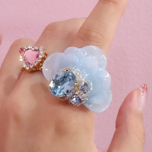 【リング.21】phantomFLOWER crystal