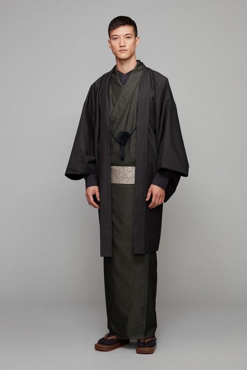 きもの / 米沢織 / ふくれ / Khaki(With tailoring)