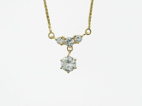 【宝石鑑別書】0.560ct UP ダイヤモンドネックレス K18YG