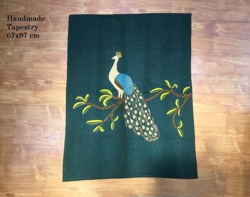 手織りカシミールウール手刺繍 (ペア)B201817
