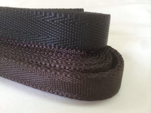 ナイロン ベルト シート織 15mm幅 1.3mm厚 1m 黒