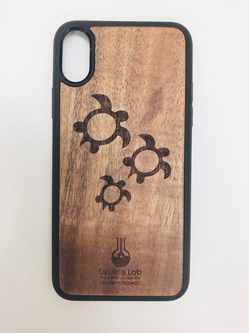 アイフォンケース カメ ホヌ iPhoneXS ウクレレ・ラボのコアの携帯ケース uk-94