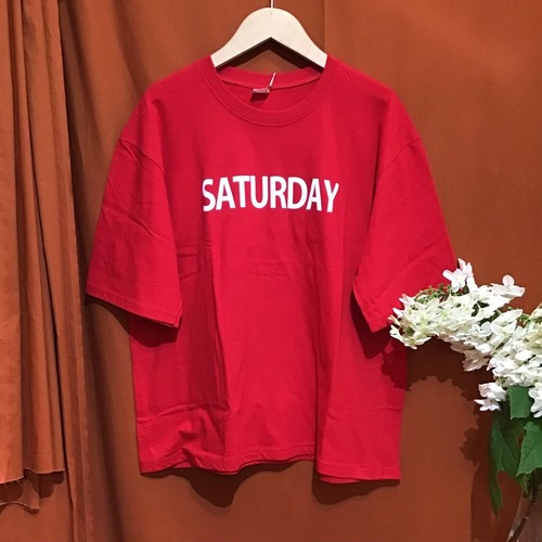 PRINT T-shirt    Color : Red