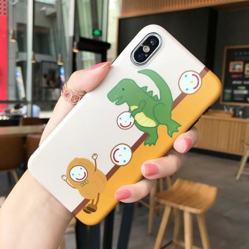 ORIGINAL iPhone Xケース かわいい 恐竜 iPhone8/7plus ケース クリエイティブ iphone6sカバー 個性 スマイル ストラップ付き 送料無料