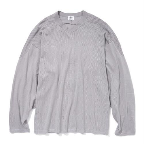 "Just Right ""Cotton Mesh Hockey Shirt"" Grey"
