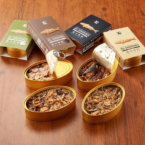 鯖の燻製缶詰 オイルサバディン 8缶セット ギフトボックス 静岡県沼津産