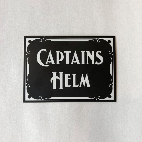 CAPTAINS HELM #logo sticker