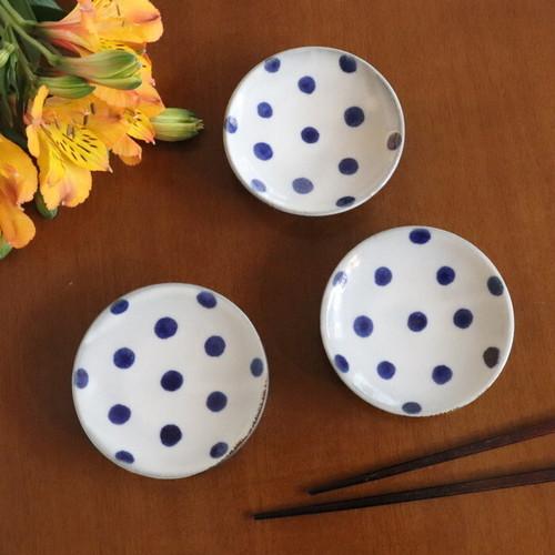【やちむん】3寸皿 水玉/ [Yachimun] Plate 9cm 'Dot'  #183