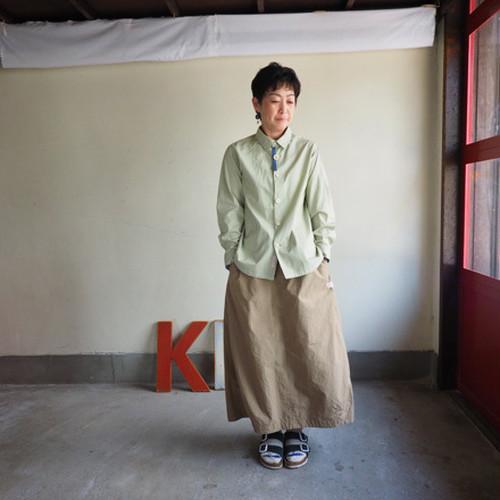 スプリングコットン スカート 01SK04 サイズ2 C/#4 サンドベージュ