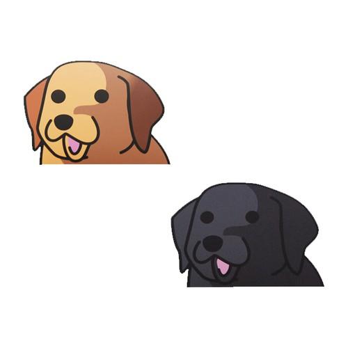 ラブラドールレトリバー(小)   犬ステッカー