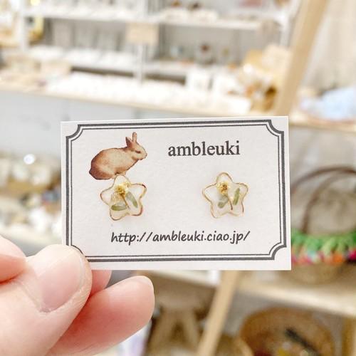 【ambleuki】星ミモザピアス
