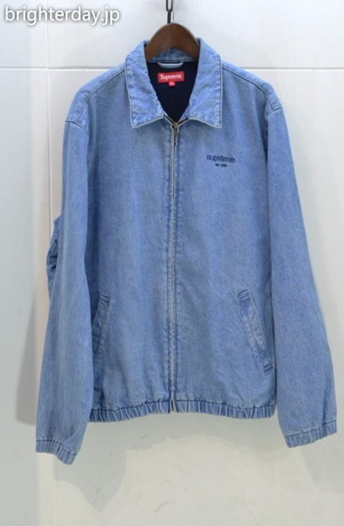 SUPREME denim harrington jacket