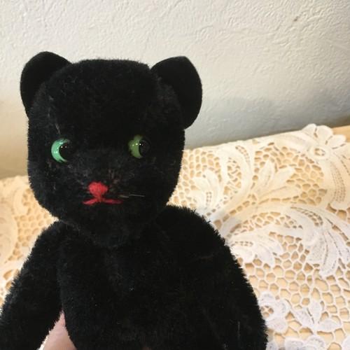 KERSA 1950~1960年代 ブーツをはいた黒猫 ぬいぐるみ