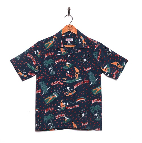 VACATION for レディース&ボーイズ / アロハシャツ / Navy / size P (xxs)