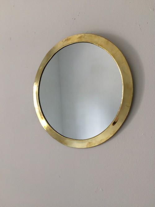 brass wall mirror  round